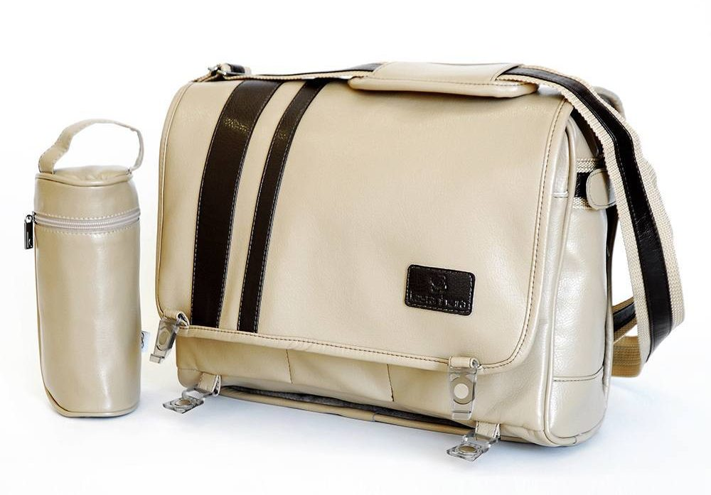 Male Maternity Handbags - Khaki and Brown Paternity Handbags