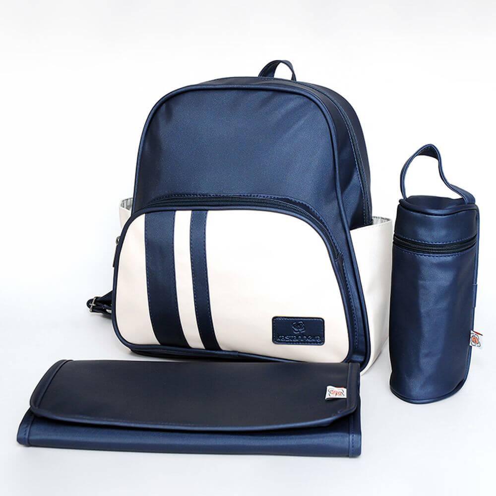 Male Maternity Handbags - Classic Marine and Beige Maternity Handbags